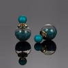Earrings Blue Glass Beads Stud Earrings