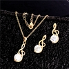 Elegant MUSIC Necklace / Earrings Jewelry Set