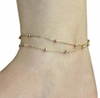 Gold Double Chains Anklet Women Ankle Foot Jewelry
