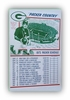 Green Bay Packers Schedule 1973 Football Poster