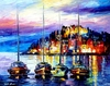 Harbor Lights Art Print