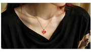 Golden Heart Fashion Necklace jewelry - Ships FREE