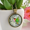 Hummingbird Charm Pendant Necklace