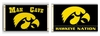 Iowa Hawkeyes Man Cave Flag & Nation Flag