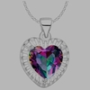 Dazzling Crystal stone silver pendant Necklace