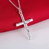 Silver Cross Pendant Necklace  Jewelry