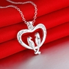 Silver Romantic Lover Bird Pendant Necklace - Ships Free