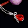 Crystal Heart Pendant Necklace Jewelry