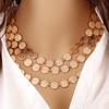 Golden Coins Necklace multi layer Jewelry