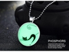 Glowing Fluorescent Cat Pendant Necklace