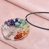 Rainbow Crystals Natural Stone Pendant Necklace