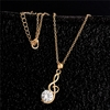 Cubic Zirconia Chain Necklace & Pendant