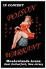Poison and Warrant at Meadowlands Arena 1990 New Jersey Concert Poster