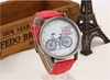 Trendy Quartz Watch Bicycle Pattern