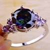 Exquisite Ring Rainbow Topaz & Amethyst Jewelry
