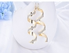 Twist Spiral Gold Earrings Charm Jewelry