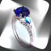 Blue Topaz Ring Jewelry Size 7
