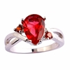 Red Topaz Ring Jewelry Size 7