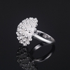 Silver Plated Flower Ring Jewelry Size 7