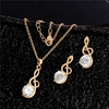 Music Zircon Necklace and Earrings Jewelry Set