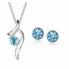 Necklace and Earrings azure blue Jewelry Set