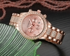 Wristwatch Rose Gold Women Geneva Quartz Watch