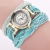 Wristwatch Spiral Luxury Rhinestone Bracelet Ladies Quartz Jewelry
