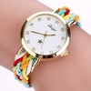 Wristwatch  Braided Leather Crystal Quartz watch For Women Ladies