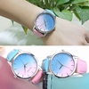 Wristwatch Rainbow Design Leather Band Analog Alloy Quartz
