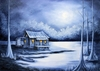 Winter in the Bayou Art Print - Free shipping