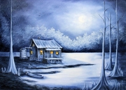 WINTER in the BAYOU Art Print Ships Free