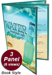 3 Panel Menu Covers (Book Style)