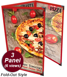 3 Panel Menu Covers (Tri-Fold Out)