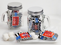 40th Birthday Mint Mason Jar Favors