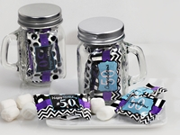 50th Birthday Mint Mason Jar Favors