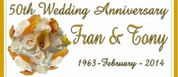 A-16CW 50th Wedding Flowers Anniversary Candy Bars