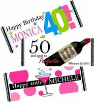 Adult Birthday Candy Bar Wrappers and Favors