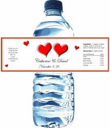Anniversary Water Bottle Labels