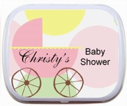 Baby Carriage -Colorful Dots Mint Tins