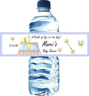 Baby Shower Water Bottle Labels Personalized Baby Shower Favors