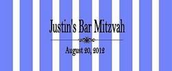 BAR-01CW Blue Striped Candy Bar Wrapper