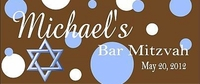 BAR-05CW Blue Polka Dot Candy Bar Wrapper