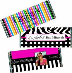 Bar Mitzvah & Bat Mitzvah Candy Bars and Candy Bar Wrappers