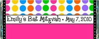 BATS-03CW Hot Dots Bat Mitzvah Candy Bar Wrappers