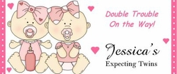 BAS-05CW Twin Girl Baby Shower Candy Bars