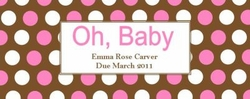 BAS-09CW Oh, Baby Pink and Brown Candy Bar Wrapper