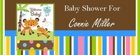 BAS-18CW Jungle Buddies Baby Shower Candy Bars