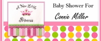 BAS-19CW Princess Baby Shower Candy Wrappers