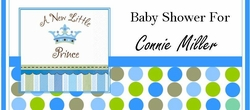 BAS-20CW Little Prince Baby Shower Candy Bars