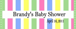 BAS-28CW Baby Stripes Candy Bar Wrappers